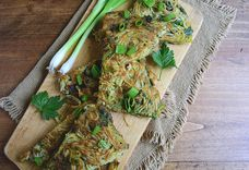 Savory Green Onion Noodle Cake