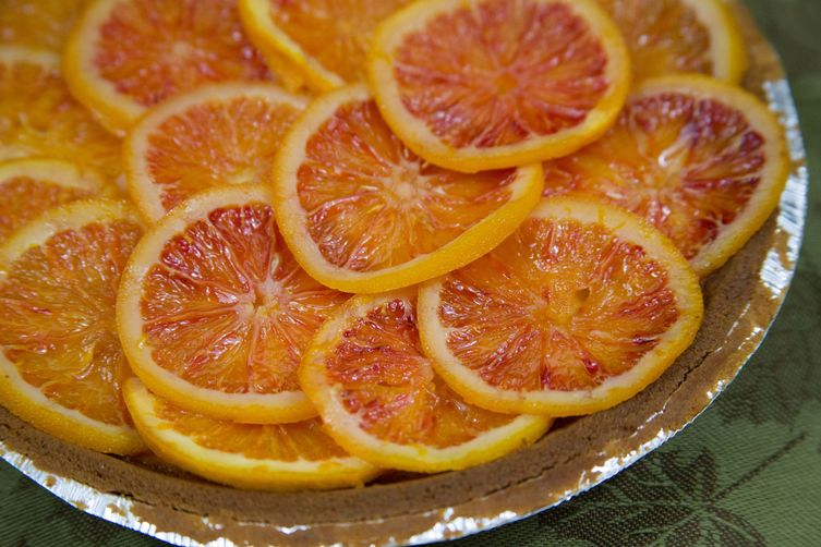 Blood Orange and Meyer Lemon Cream Cheese Pie