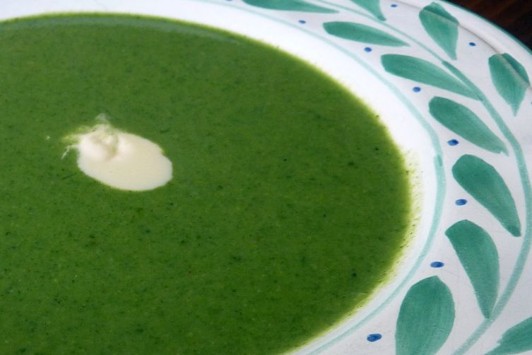 Recapturing Spring: Romaine, Pea and Mint Soup with Creme Fraiche