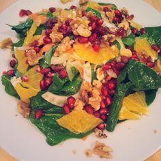 Spinach, fennel & orange salad