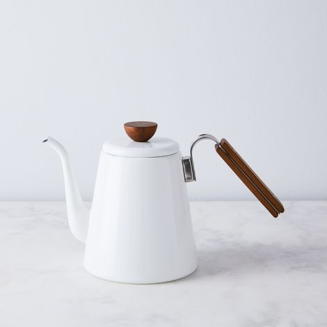 Enamel Pour Over Gooseneck Kettle