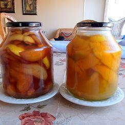 Homemade Orange and Pear Liqueurs