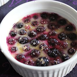 Blueberries 'n Creme Brulee