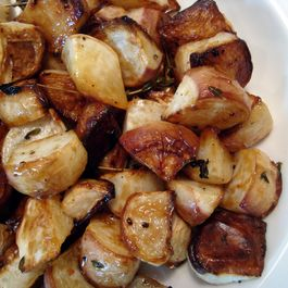 Roasted Turnips with Sorghum Syrup