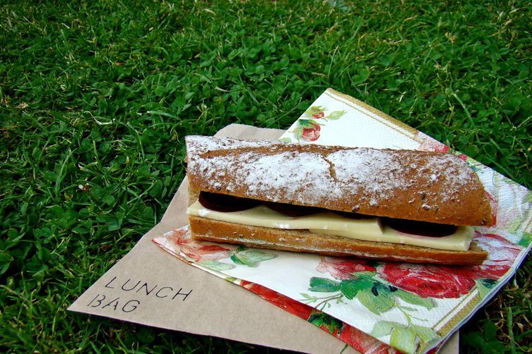 French baguette sandwich