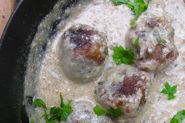 Garbanzo lime meatballs