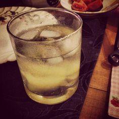 Pear, Vanilla and Rosemary Cocktail