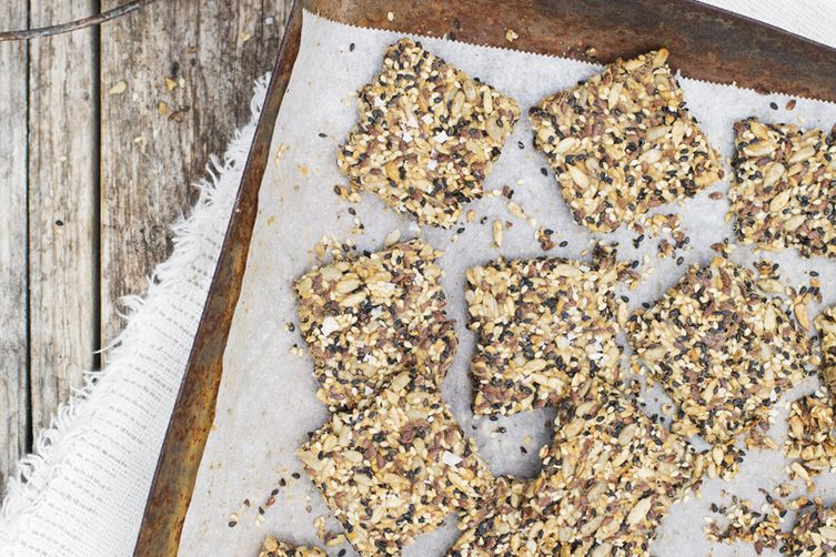 Orange-Kissed Seed Crackers