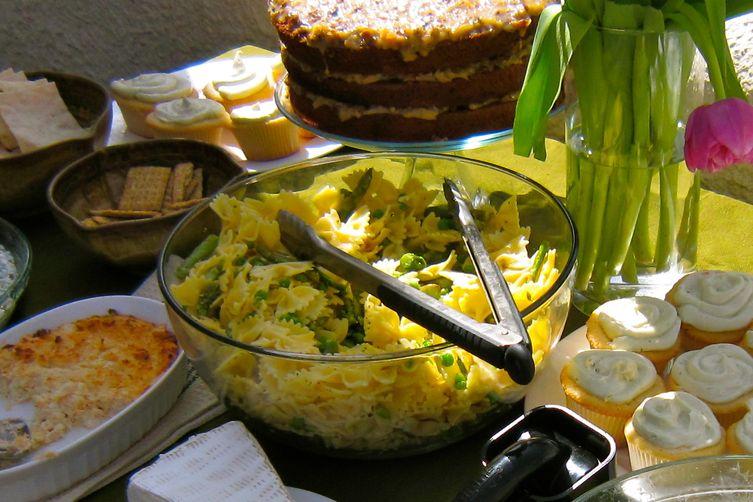 Lemony peppery asparagus pasta