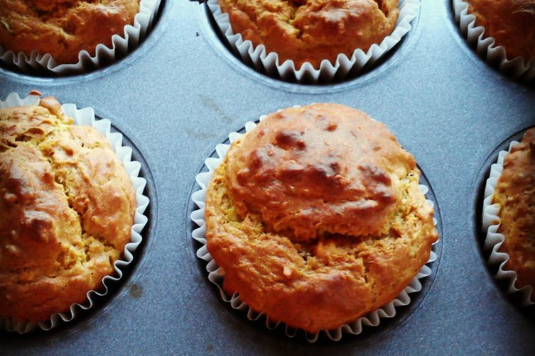 Oat Avocado and Green Olive Muffins