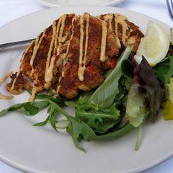 Lobster and Crab Cakes with Chipotle Remoulade