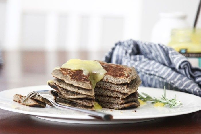 Lemon-Rosemary Buckwheat Pancakes