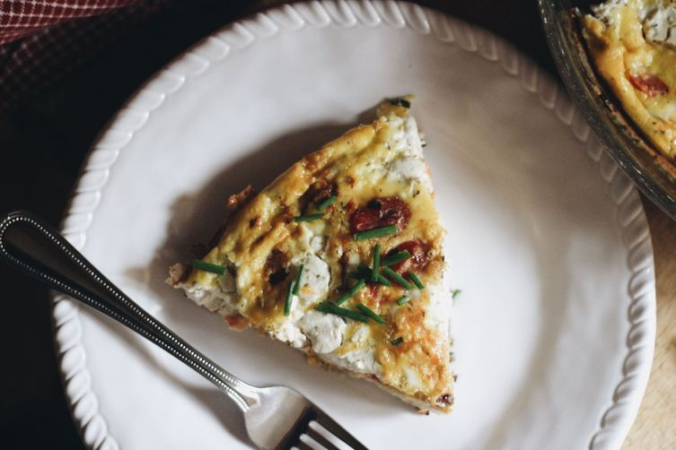 Chive, Herb Goat Cheese, and Tomato Frittata Recipe on Food52