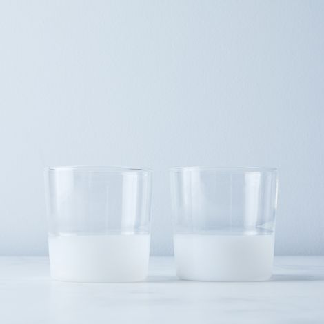 Italian Glass Color Block Tumblers (Set of 2)