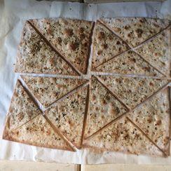 Dukkah Dusted Lavash Crackers