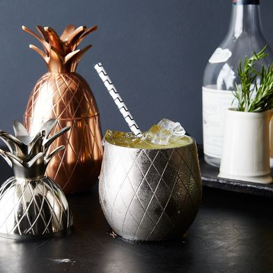 Metallic Pineapple Tumbler