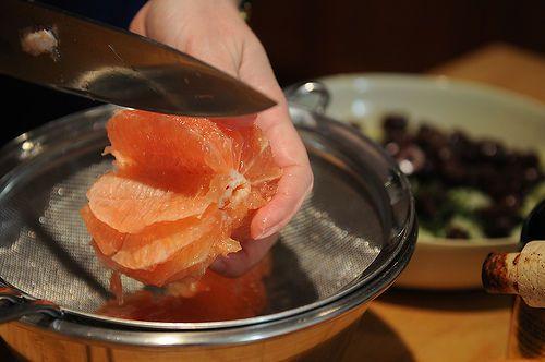 Red Grapefruit, Feta and Mint Salad