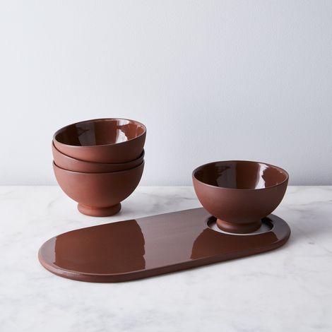 Terra-cotta Bowls & Serving Set