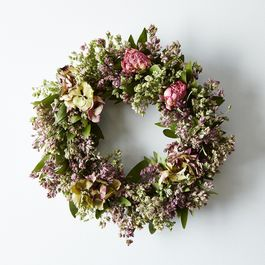 Hydrangea & Peony Bay Wreath