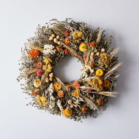 Mixed Marigold Wreath