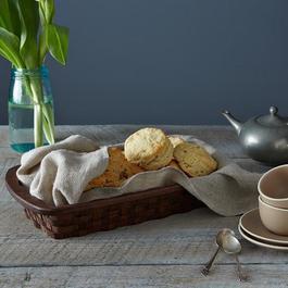 Wood Serving Basket