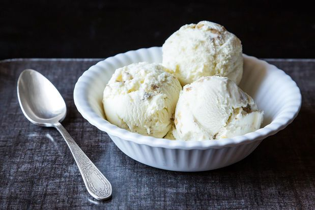 Oatmeal Ice Cream with Toasted Walnuts from Food52