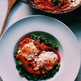 Quinoa Shakshuka with Feta and Kale