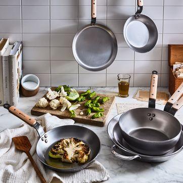 De Buyer Mineral B Carbon Steel Wood Cookware Set On Food52