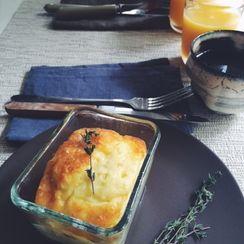 artichokes, potato and cheese frittata