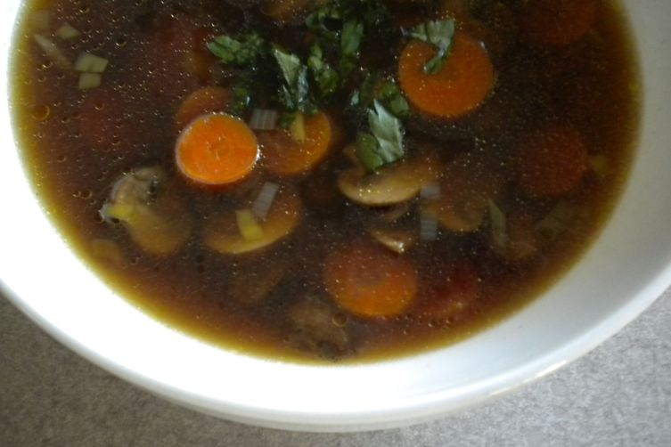 Carrot, Leek and Mushroom Soup