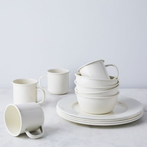Enamel Simple Dinnerware (Set of 4)