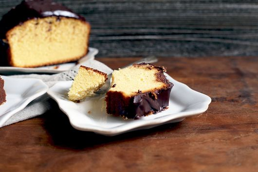 A Ganache-y Pound Cake for All You Eclair Lovers Out There