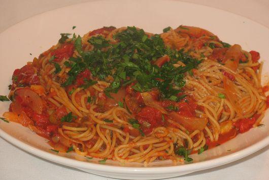 Artichoke, Peperoncini, and Smoked Sausage Pasta
