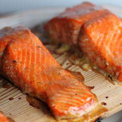 Cedar Plank Salmon with Citrus Glaze