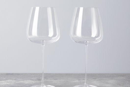 Handblown Tall Tulip Wine Glasses  (Set of 2)