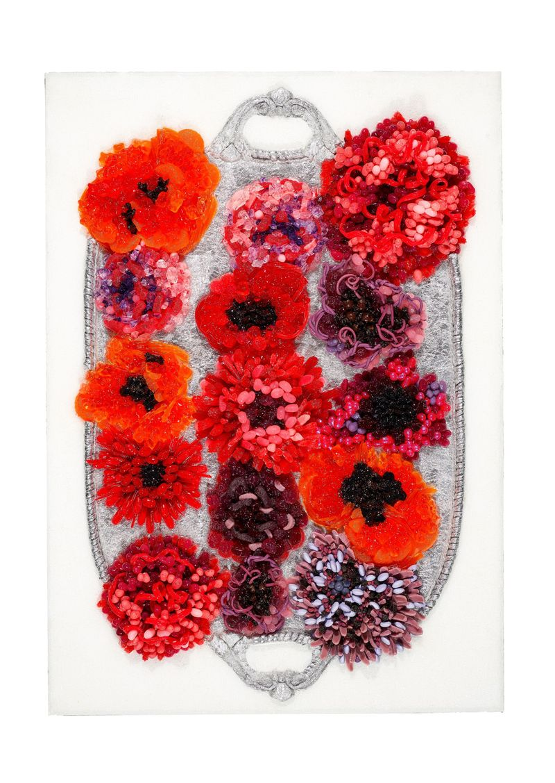 The Queen of Craft, Martha Stewart wows with this 3-D floral number.