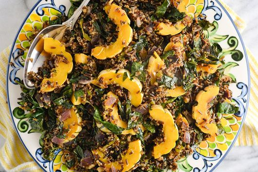 Squash, Kale, and Wild Rice Pilaf
