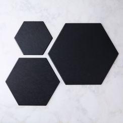 Matte Black Hex Boards (Set of 3)