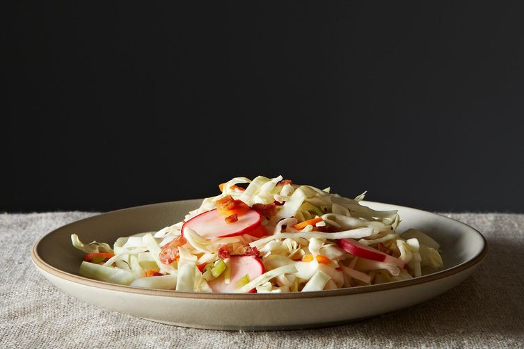 Pancetta Slaw with Chili-Lime Vinaigrette