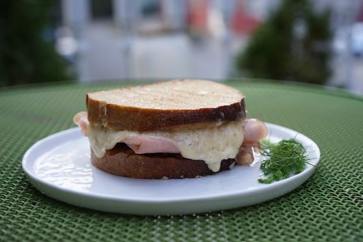 Anniversary Mortadella Melts with Fennel-Onion Jam