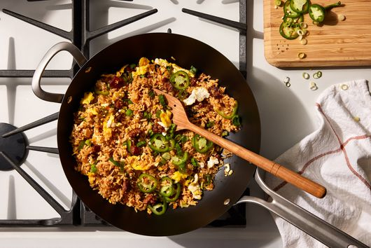 Spiced Rice With Scrambled Eggs & Chorizo From Rōze Traore