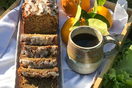 Fresh Orange Hummingbird Banana Loaf Cake with a Buttermilk Glaze