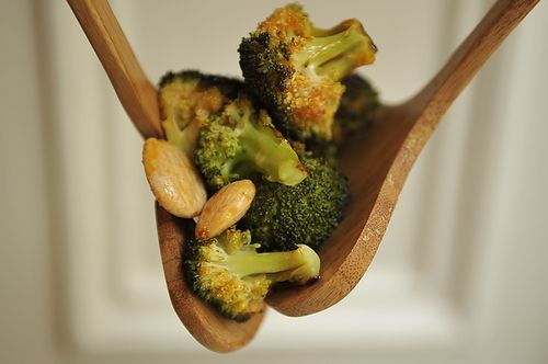 Roasted Broccoli with Smoked Paprika Vinaigrette and Marcona Almonds