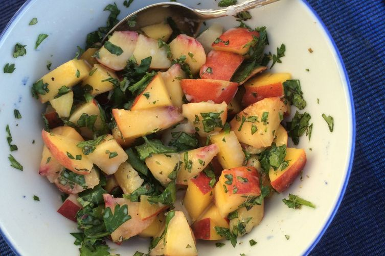 Green Peach, Cilantro, Mint and Coconut Chutney