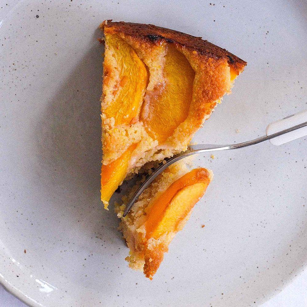 Cornmeal Peach Whiskey Cake Recipe On Food52