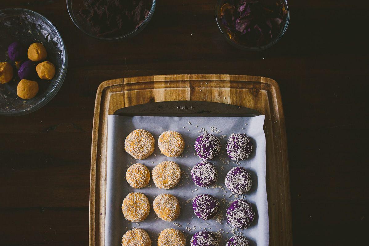 Sweet Potato Mochi Cakes