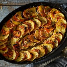 Carrot and Potato Gratin with Parmesan and Thyme