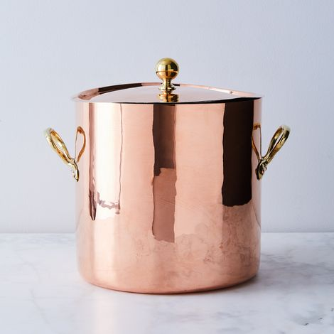 Vintage Copper French Large Stockpot, Late 19th Century