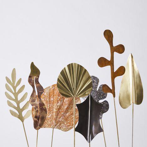 Handmade Artisan Brass Botanicals