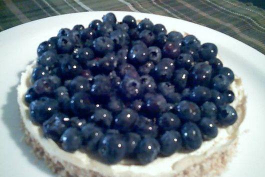 Blueberry Tofu Cheesecake